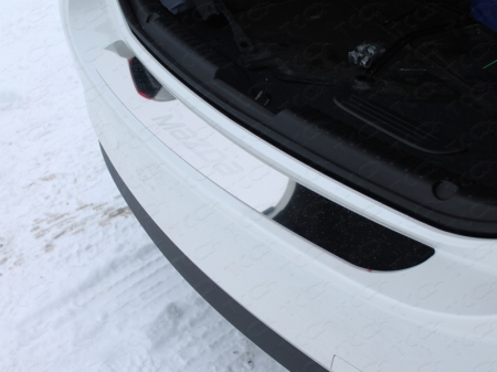 Mazda 6 2015 - Накладка на задний бампер (лист зеркальный надпись Mazda)